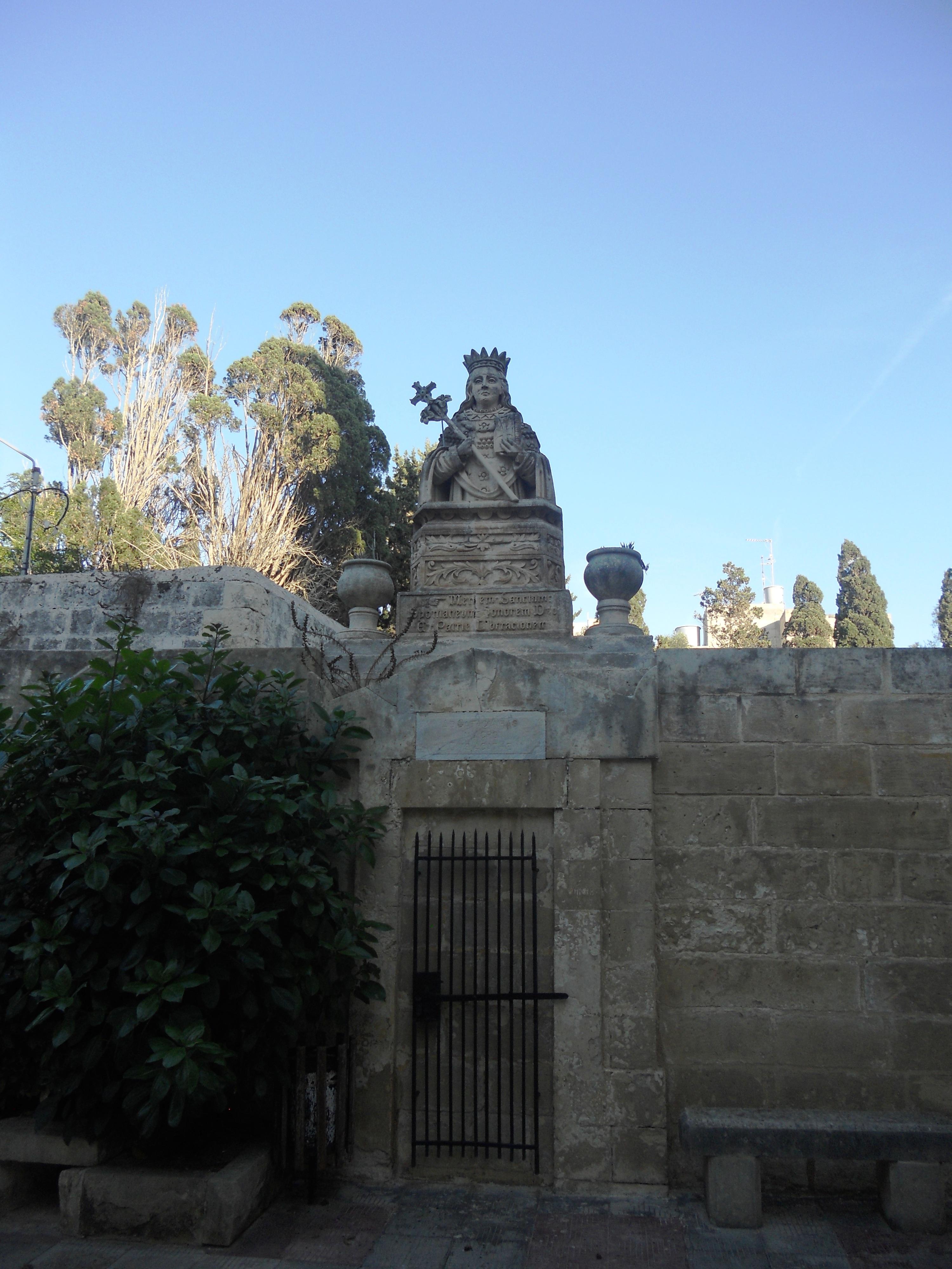 Malte Rabat Statue de Ste Agathe Quelques photos de ma retraite au soleil à Malte