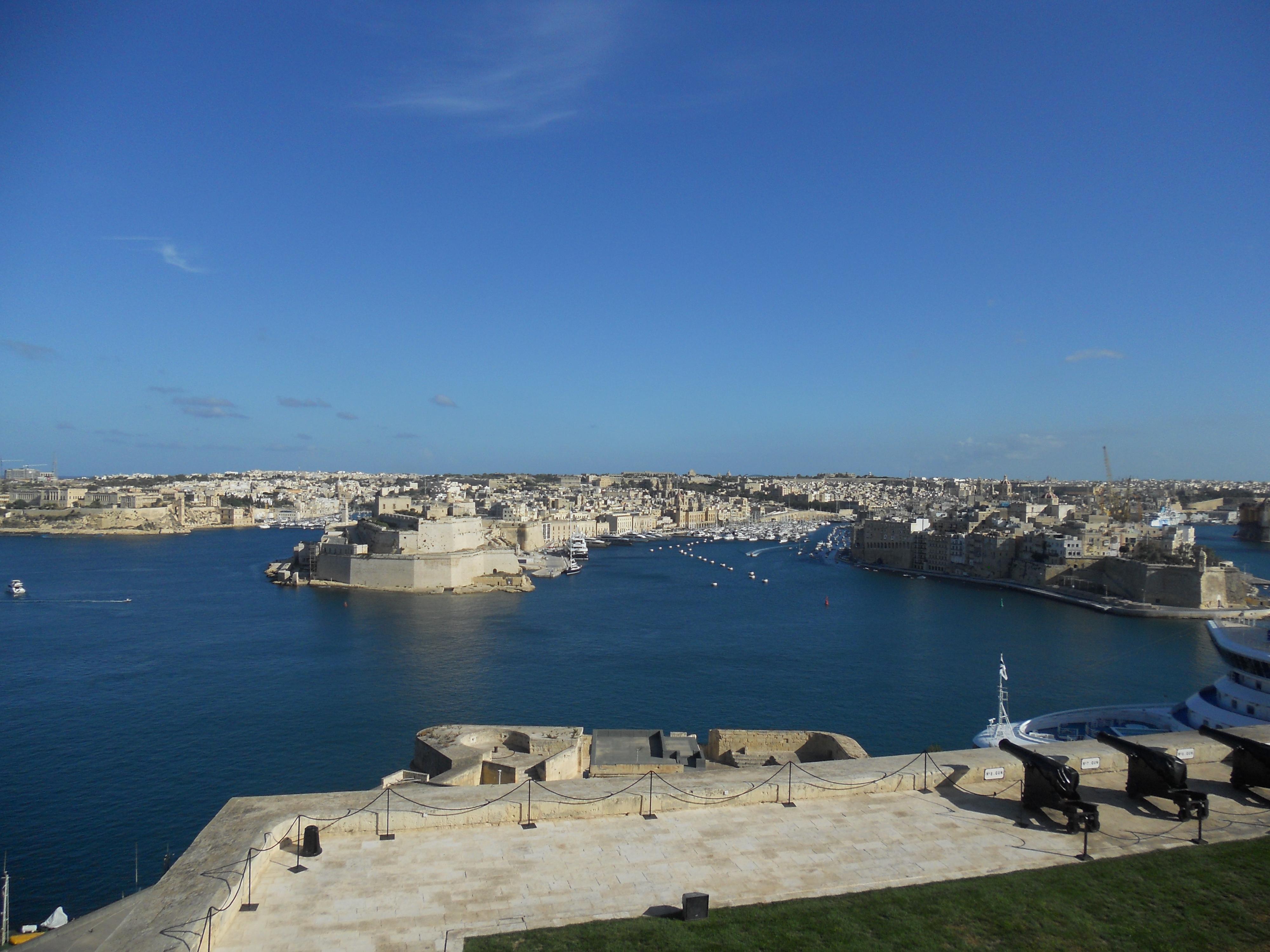 Malte les 3 cites et la Batterie du salut Quelques photos de ma retraite au soleil à Malte