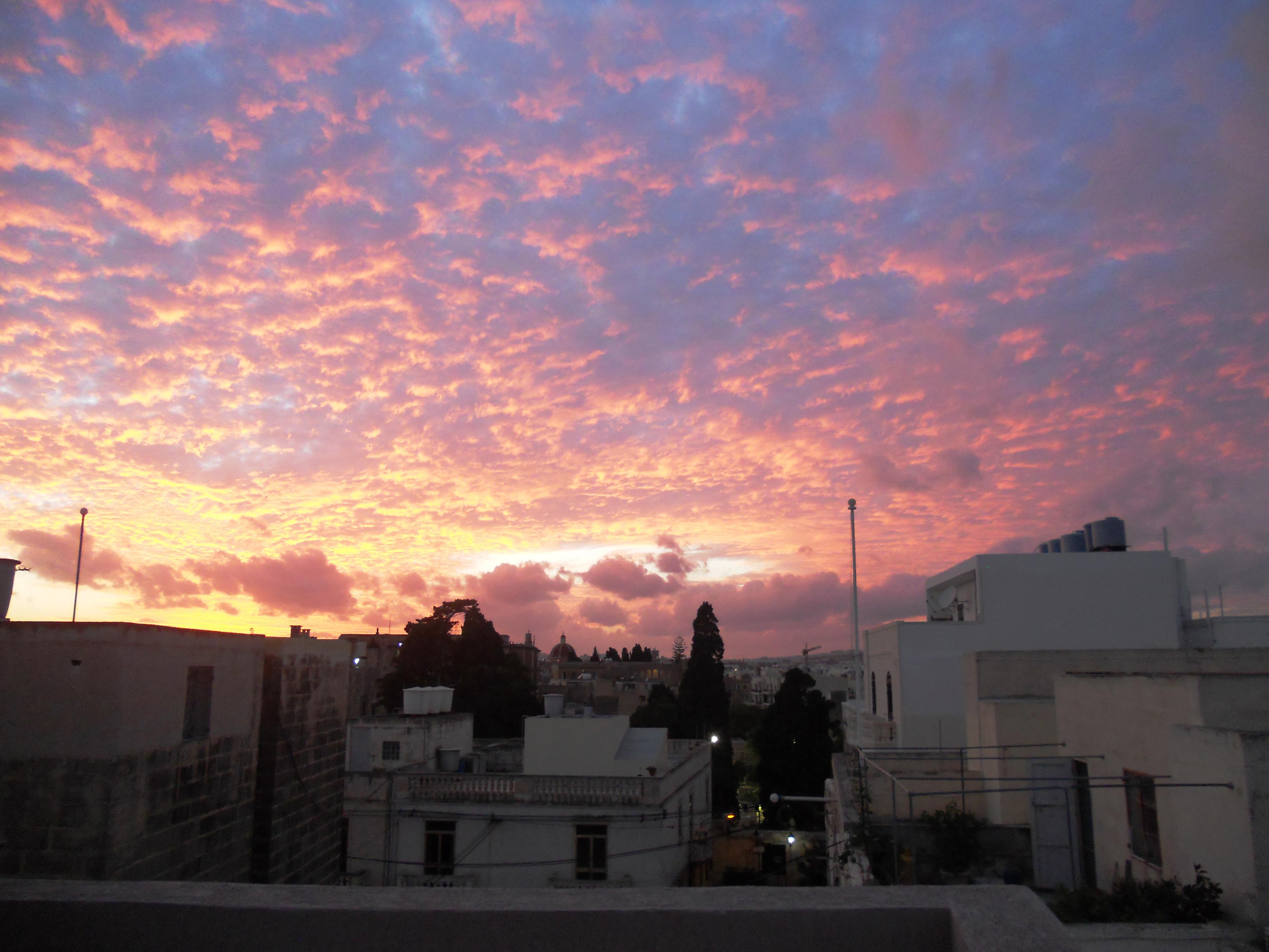 malte coucher de soleil terrasse du soir1 Quelques photos de ma retraite au soleil à Malte