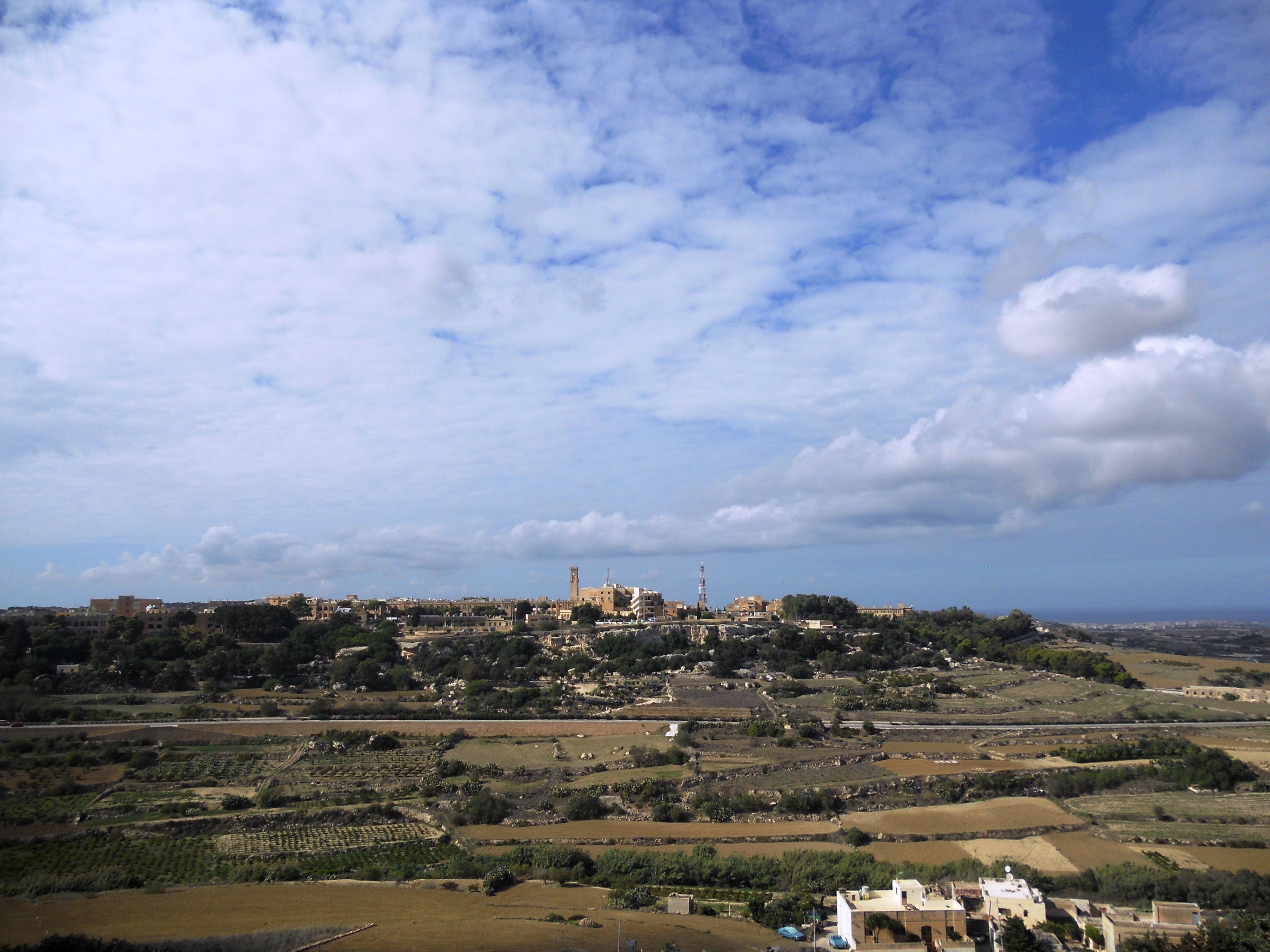 paysage Maltais vue sur Mtarfa Quelques photos de ma retraite au soleil à Malte